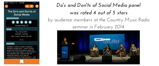 Do's and Don'ts of Social Media panel