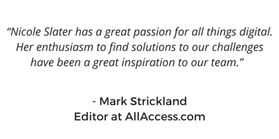 Mark Strickland testimonial for Nicole Slater social media speaker