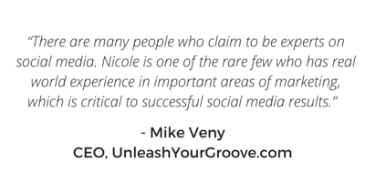 Mike Veny testimonial for Nicole Slater social media speaker